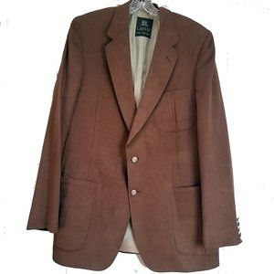 Lanvin Men's Feather Suede Suit Coat Jacket Blazer